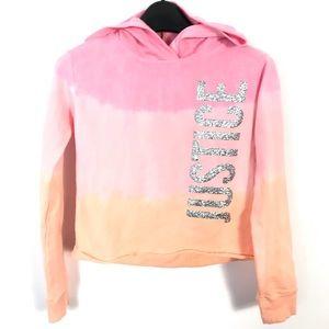 Justice crop hoodie